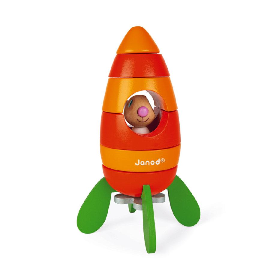 zabawka Janod® Lapin - Magnetyczna rakieta marchewka z zajączkiem
