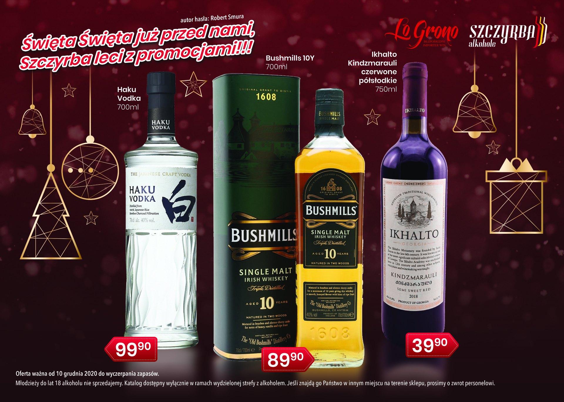 Świąteczna gazetka wódki whisky / whiskey w Szczyrba Alkohole!