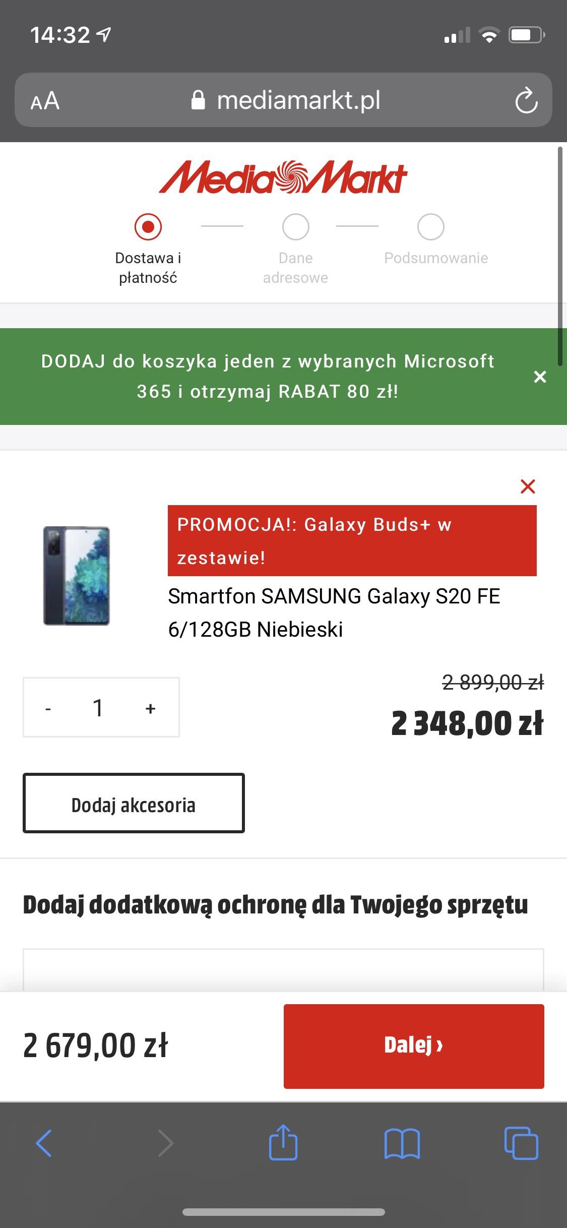 Samsung Galaxy S20 FE i FE5G wychodzi taniej ze słuchawkami niż sam telefon