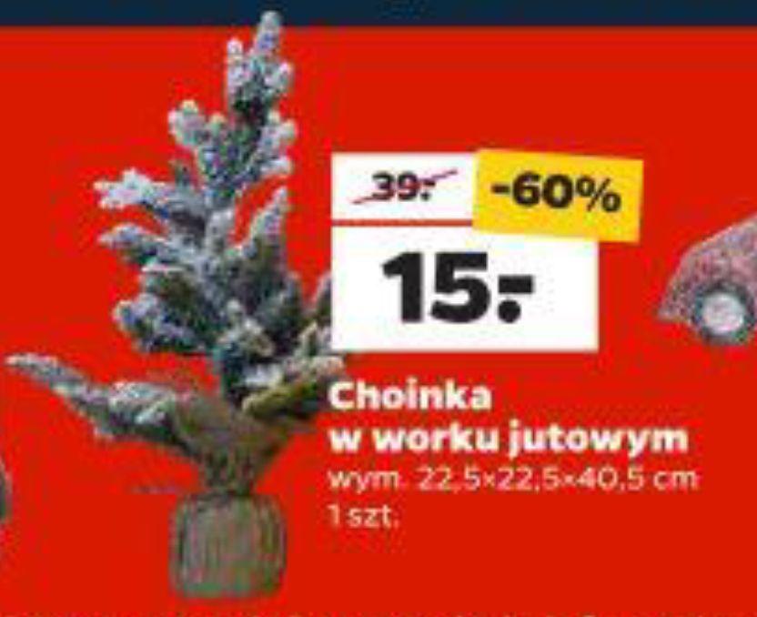 Choinka w worku jutowym 40 cm + inne ozdoby świąteczne do -60% - Netto