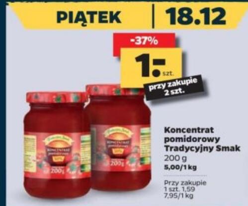 Koncentrat pomidorowy 200 g przy zakupie 2 szt. @Netto