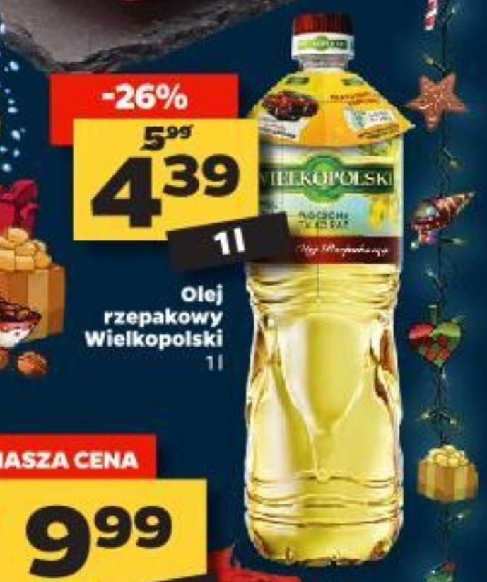 Olej rzepakowy wielkopolski 1 l za 4,39 zł w Netto