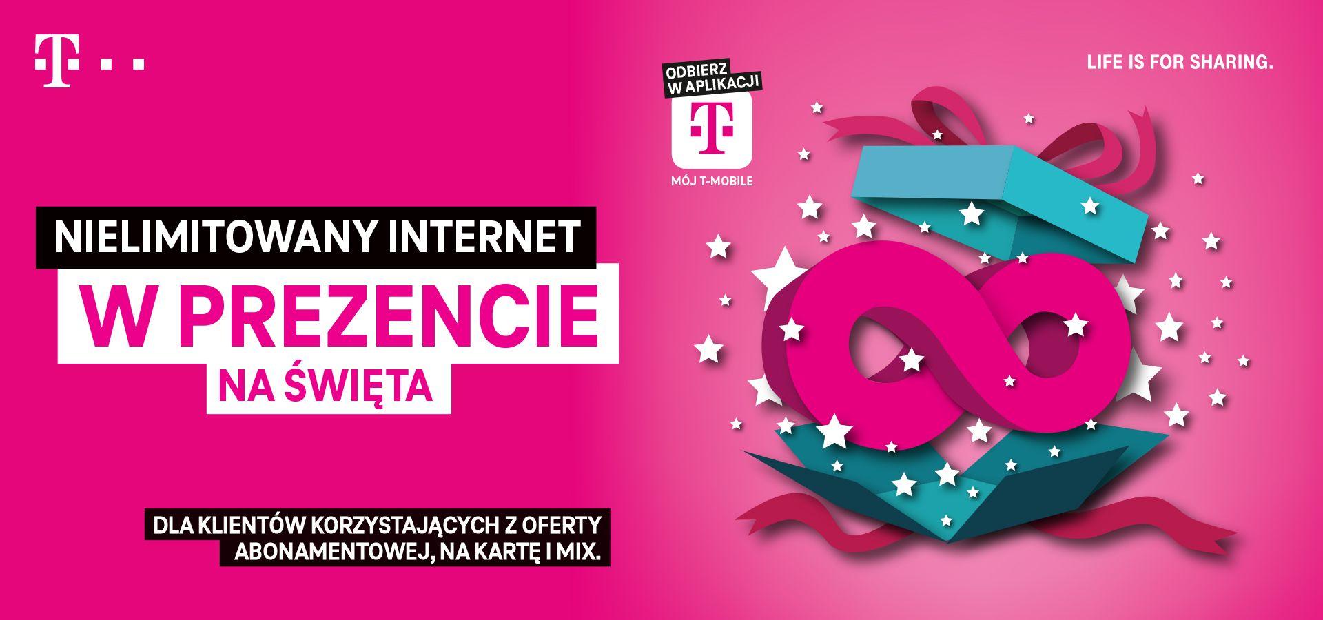 Nielimitowany Internet na święta w T-Mobile! Do aktywowania w aplikacji Mój Tmobile.