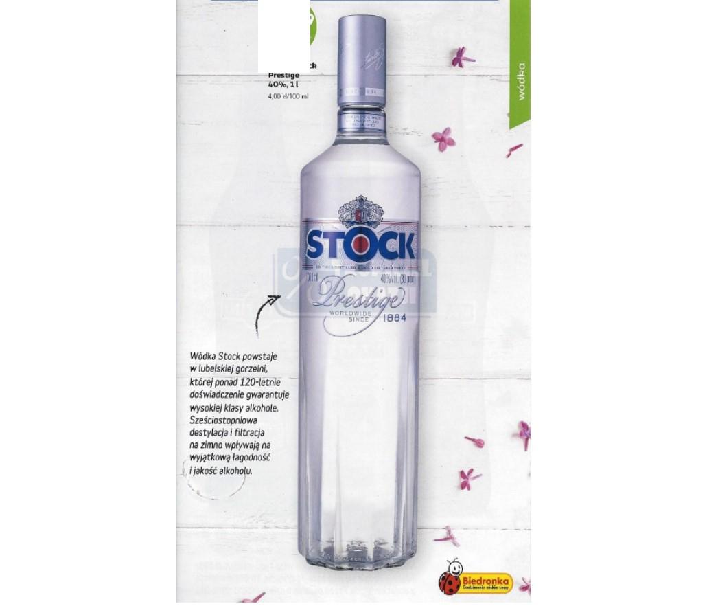 Wódka Stock Prestige, 40% 500 ml przy zakupie 2szt Biedronka