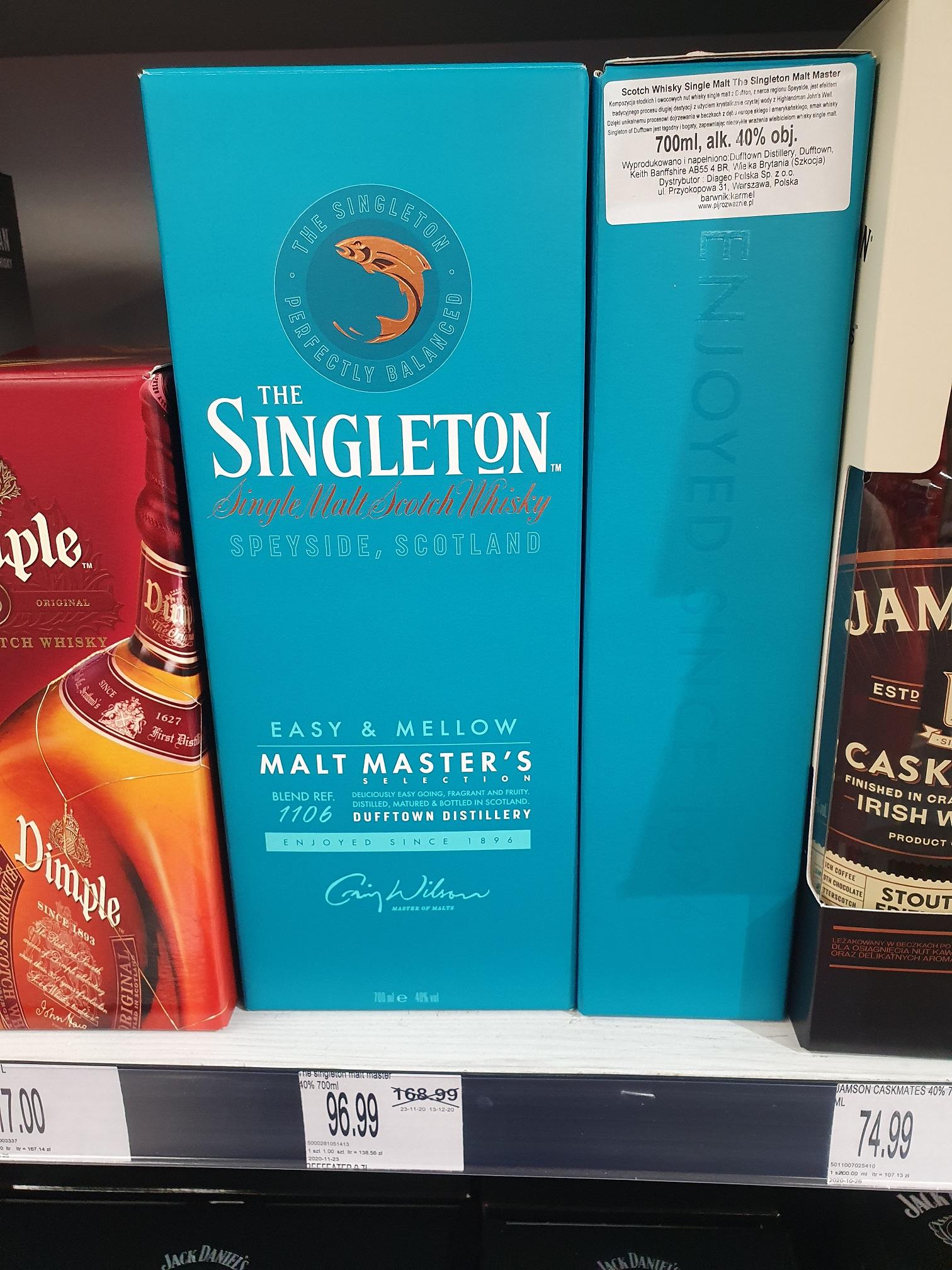 Przecena na whisky w E.Leclerc Ostrów Wlkp zbiorcza: Singleton Glenlivet Dewar's Jonnie Walker Red Label