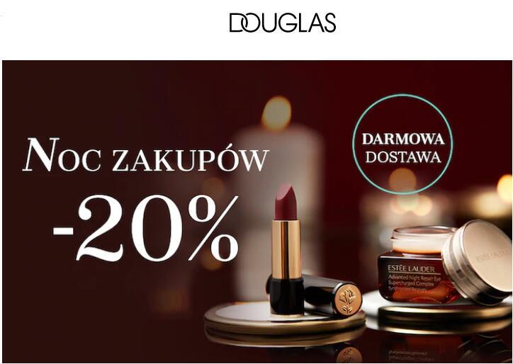 20% rabatu na kosmetyki nieprzecenione w Douglas