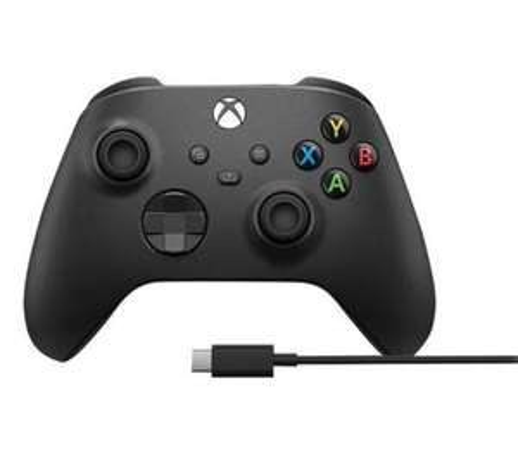 Microsoft Xbox Series Kontroler bezprzewodowy + kabel USB-C (carbon black)