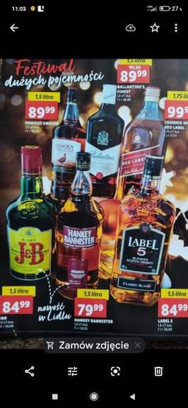 Whisky - Duże pojemności Lidl (Ballantines Finest 1.5 L w cenie 89.99 PLN) Oferta zbiorcza