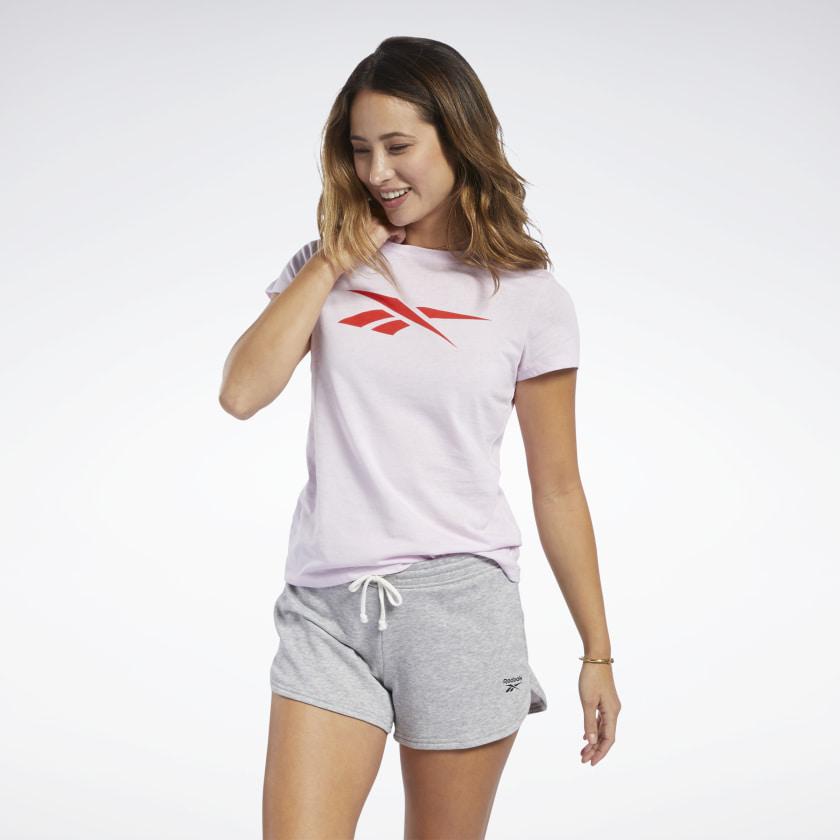 Koszulka REEBOK VECTOR GRAPHIC (XS-S-XL) [Kolor: Pixel Pink]