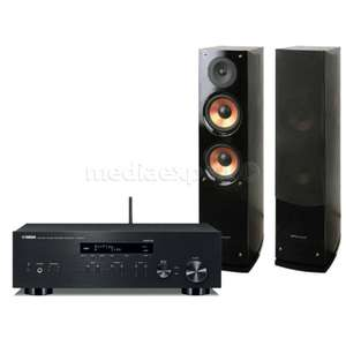 Zestaw stereo YAMAHA R-N303D + Pure Acoustics NOVA 6 Czarny