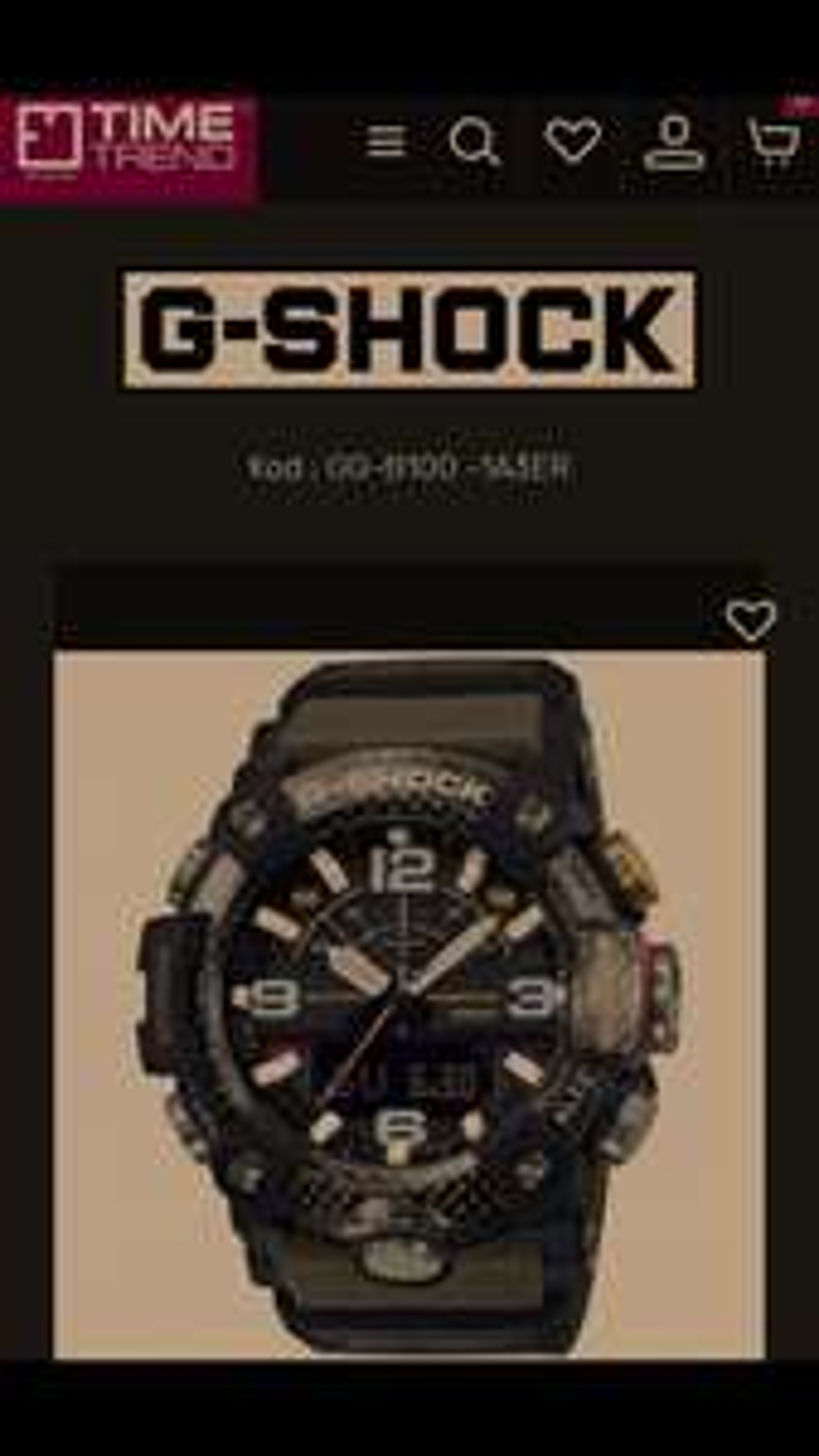 Zegarek Casio G-Shock Mudmaster GG-B100-1A3ER