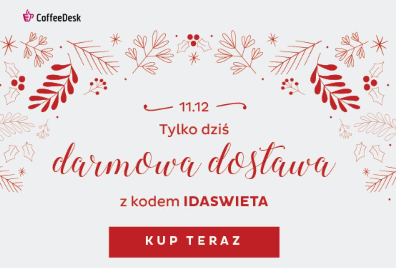 Darmowa dostawa 11.12 w Coffedesk.