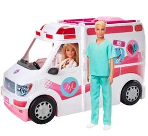 SMYK Barbie Karetka + 2 lalki