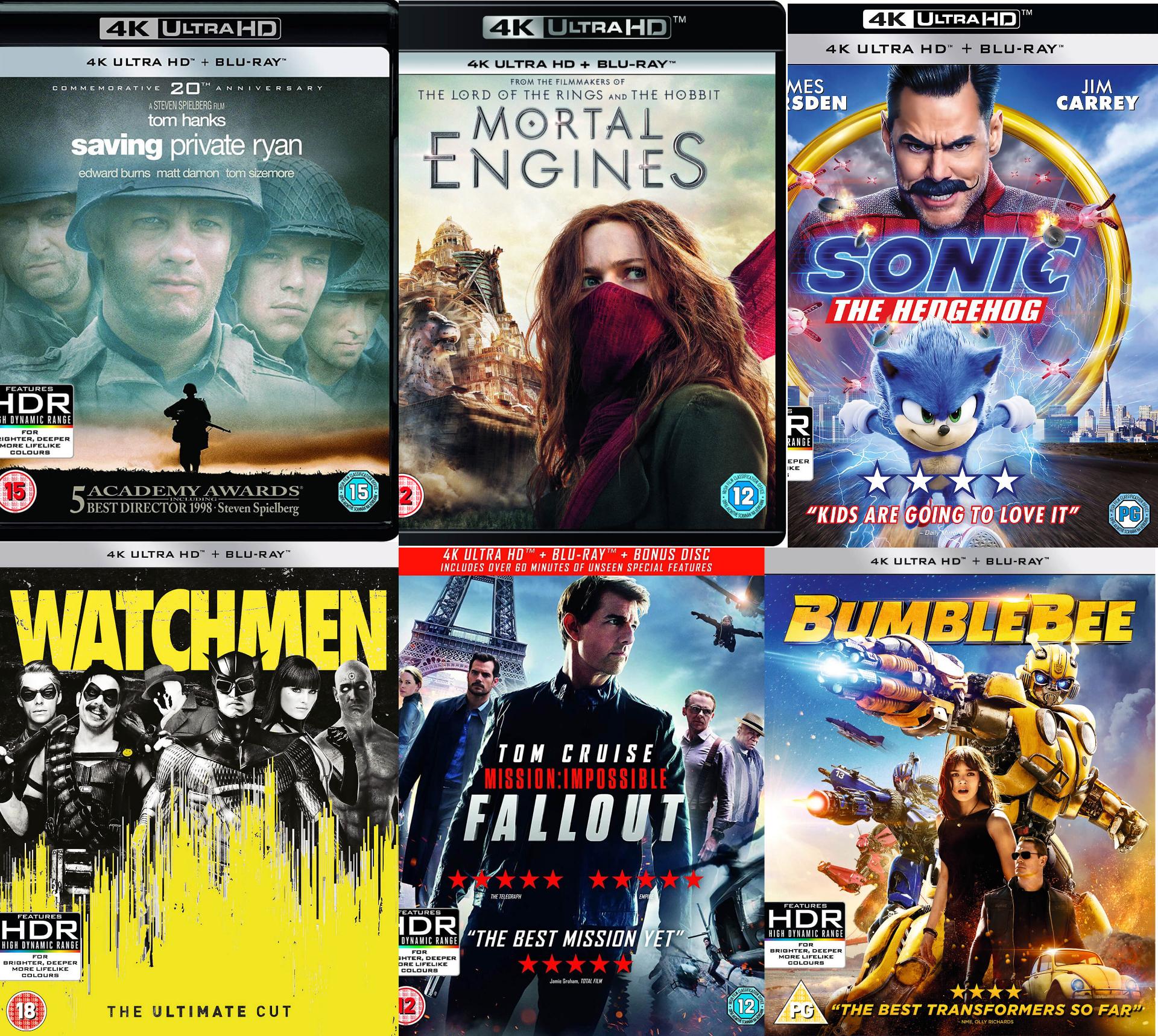 Dwa filmy 4K Ultra HD za £20 (brak PL) @Zavvi