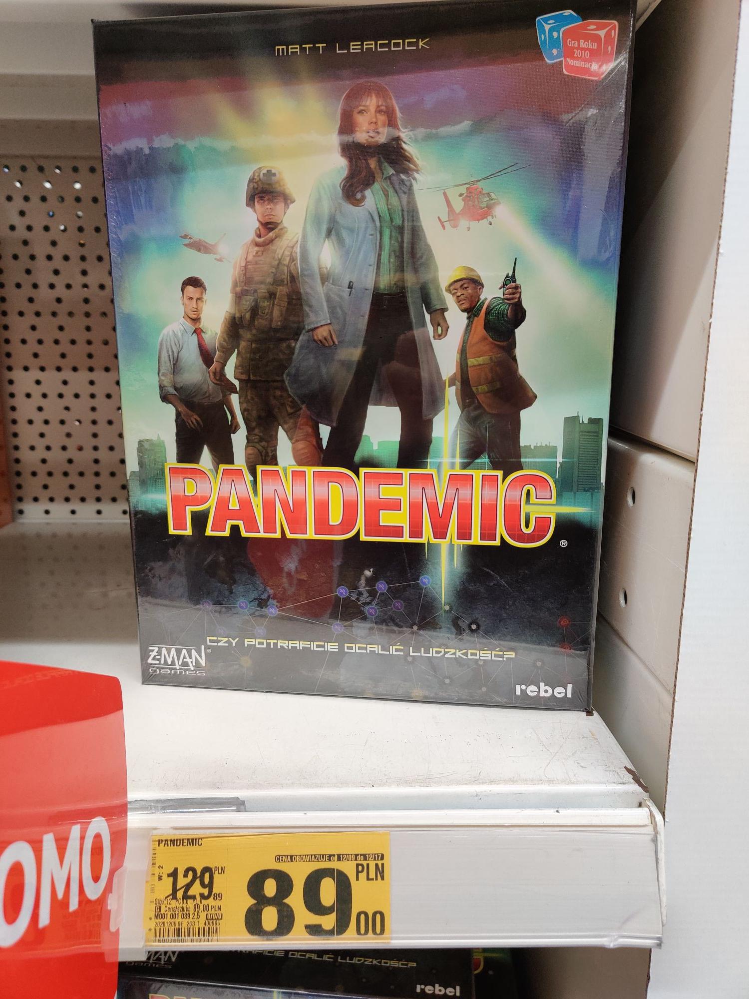 Pandemic gra planszowa - Auchan Radom Żółkiewskiego