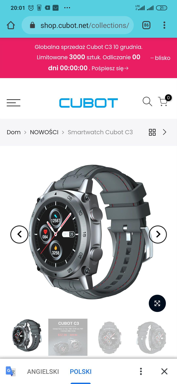 Smartwatch Cubot C3 €27,27 EUR