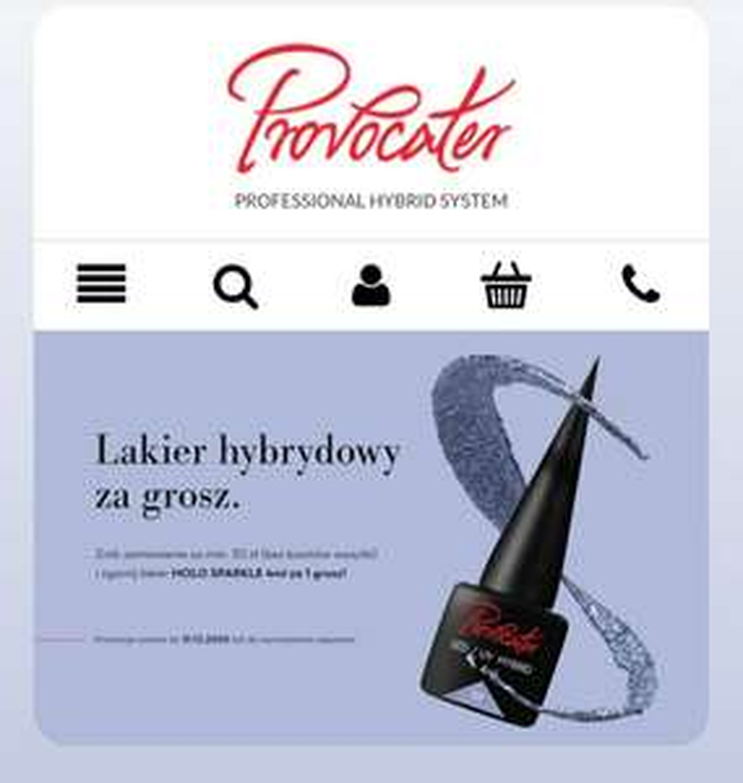 Lakier hybrydowy za 1 grosz, przy MWZ 30 zł. (Bez kosztów wysyłki)