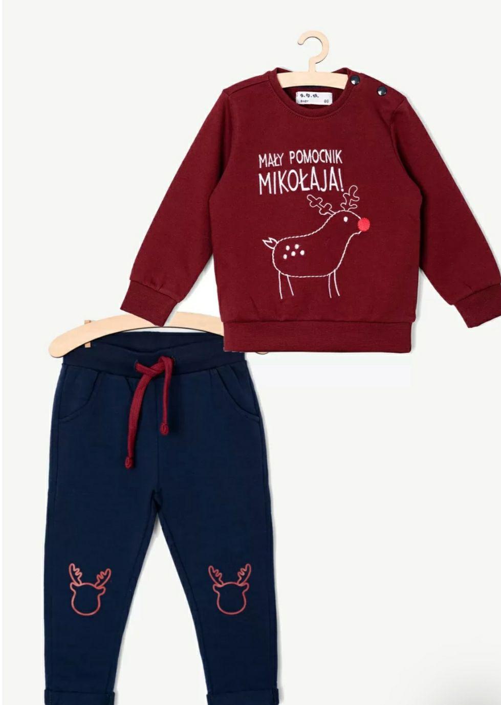Świąteczny komplet ubranka dla niemowlaka r.62
