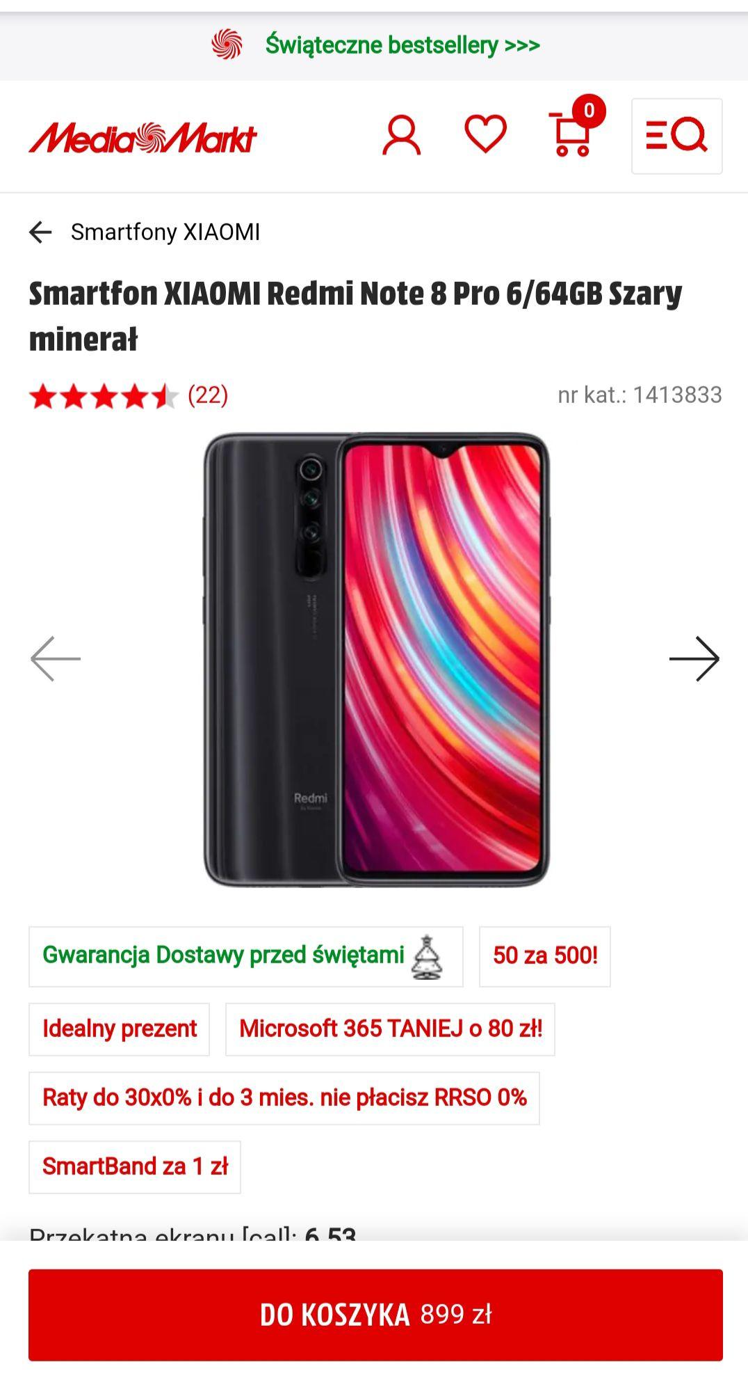 50:zl na kartę MediaMarkt za każde 500 wydane na smartfon Xiaomi