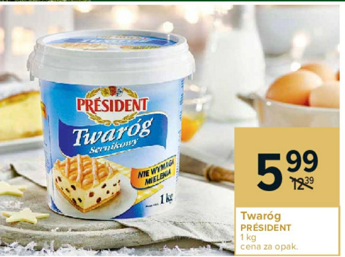 Twaróg sernikowy Président 1 kg | Carrefour