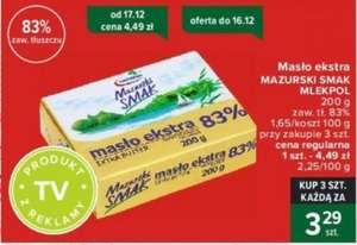 Masło ekstra 83% 200g przy zakupie 3 szt. @Carrefour