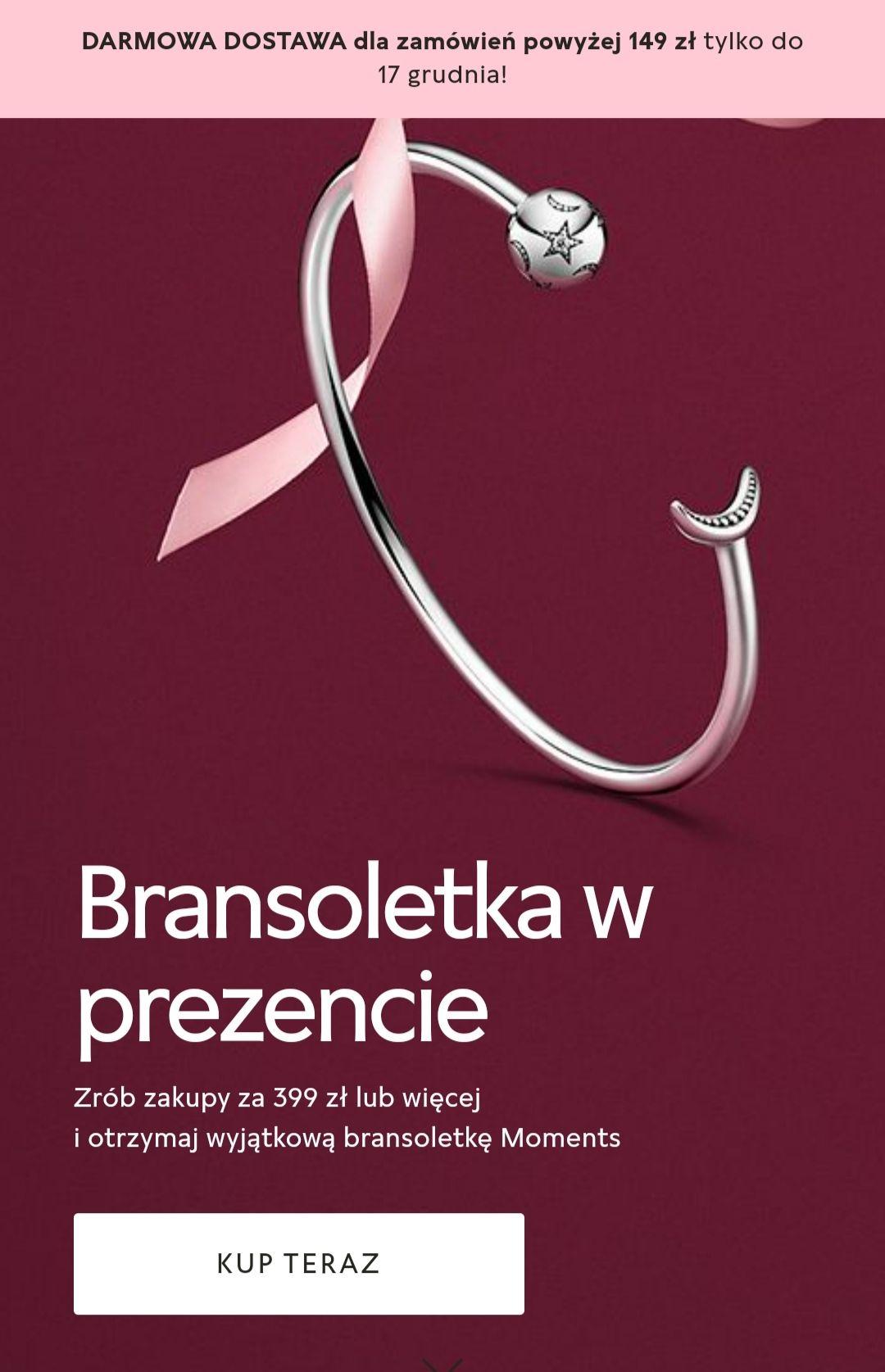 PANDORA Bransoletka MOMENTS w prezencie za 1 grosz MWZ 399 zł.