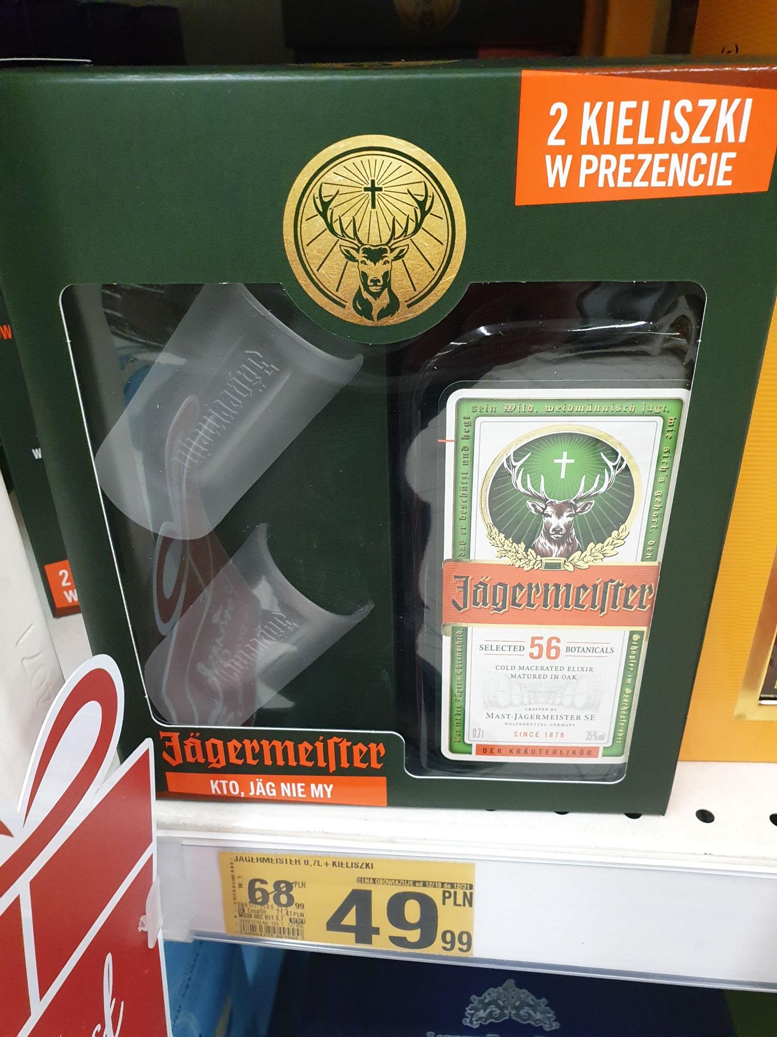 Jagermeister 0.7 + 2 Kieliszki Auchan (Katowice, Pułaskiego 60, 3 Stawy)