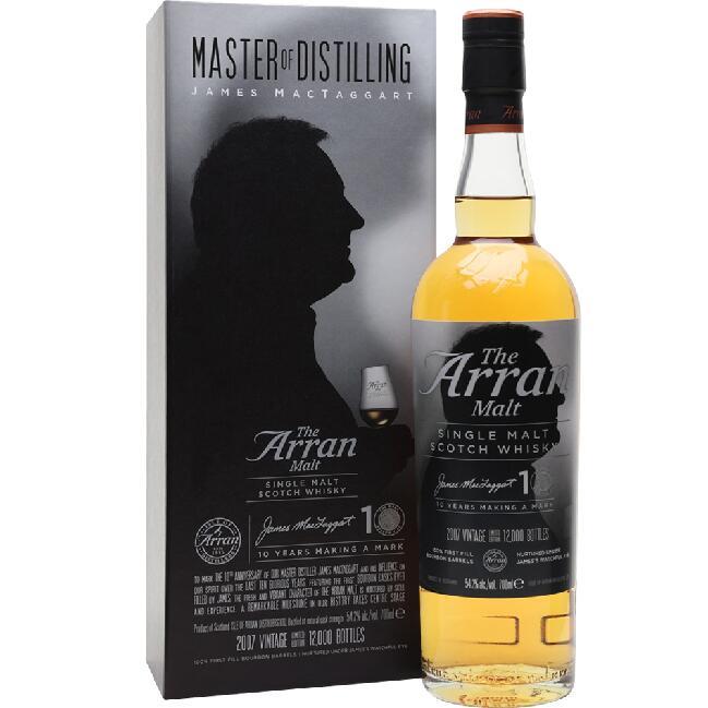 Whisky - ARRAN JAMES MACTAGGART 10YO 54,2% 0,7L wersja limitowana Sklep Kukunawa