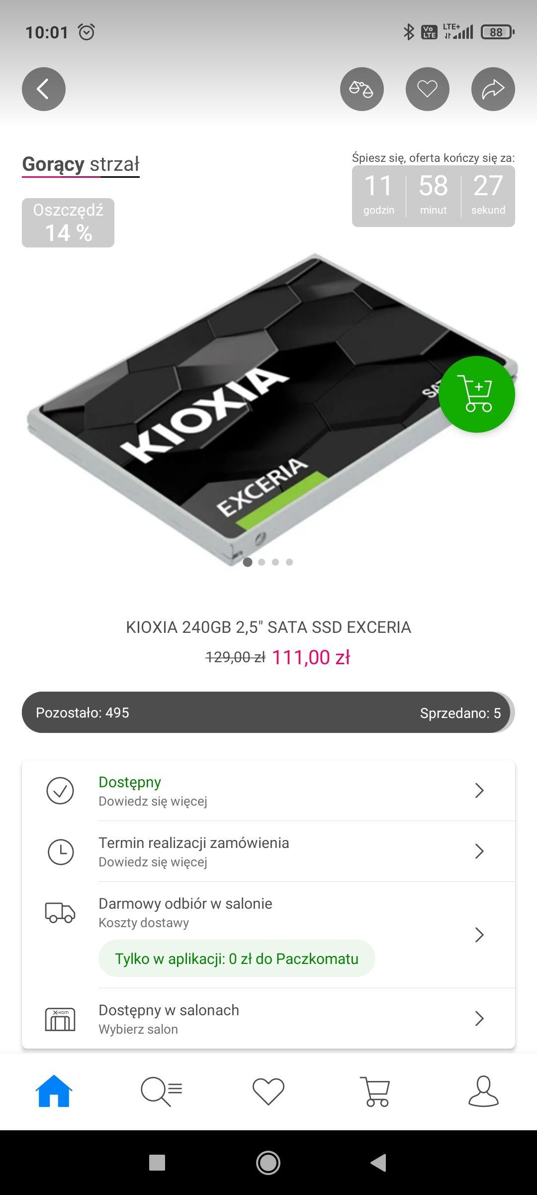 "KIOXIA 240GB 2,5"" SATA SSD EXCERIA"