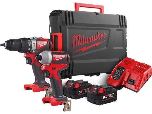 Zestaw Milwaukee M18 wiertarka i wkrętarka, bezszczotkowe