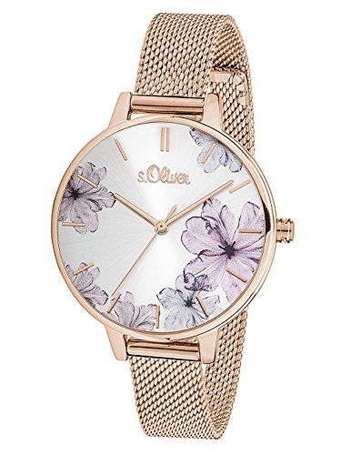 s.Oliver Damski analogowy zegarek kwarcowy z bransoletką ze stali szlachetnej 36,74€ (z pl vat i wysyłką)