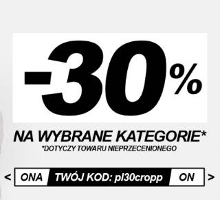 -30% na wybrane kategorie
