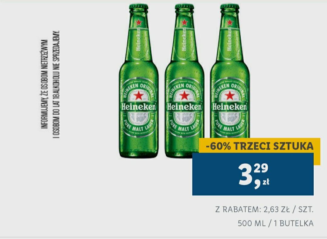 Lidl - 3 piwo Heineken taniej o 60%