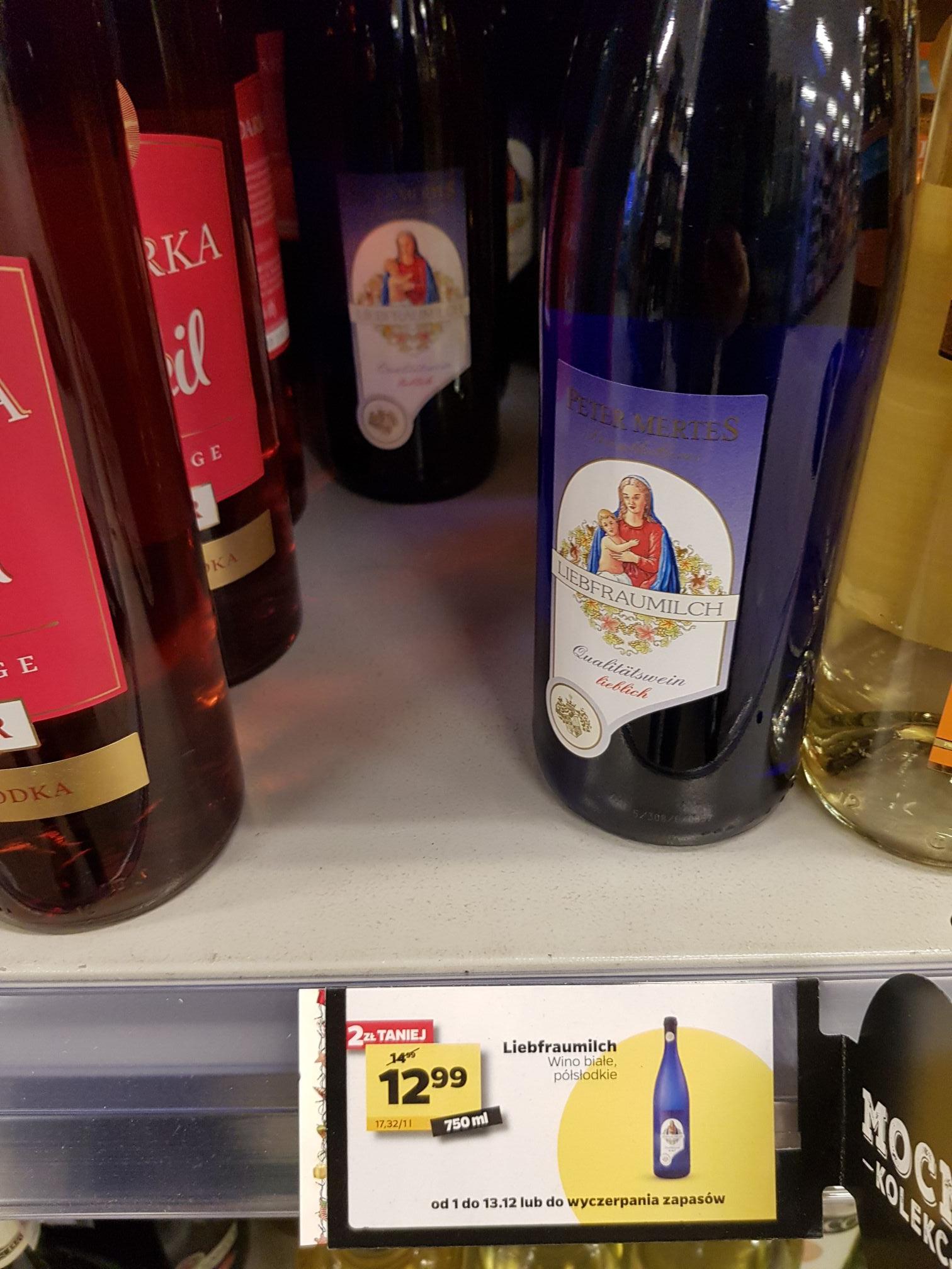 Wino półsłodkie Białe Liebfrauenmilch