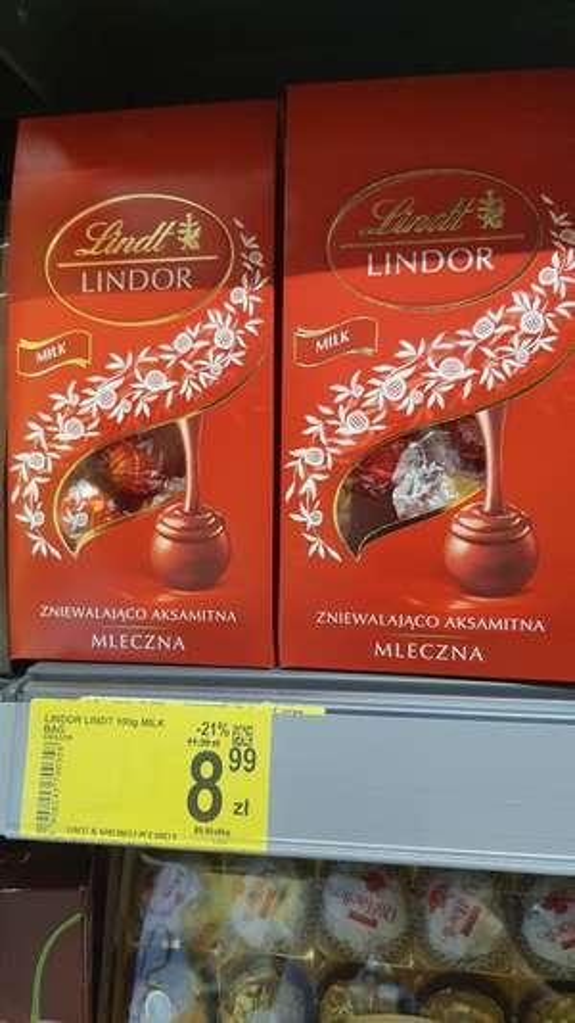 Praliny Lindt Lindor Carrefour
