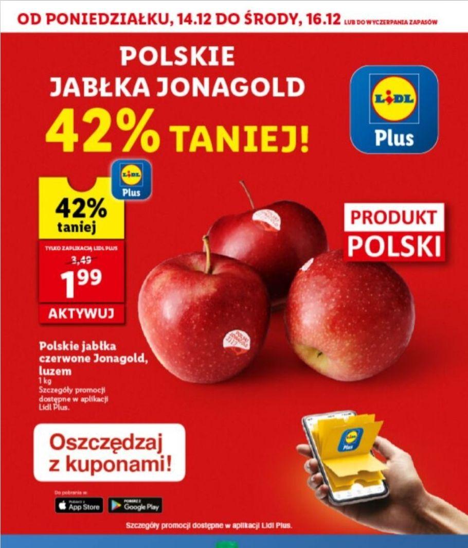 Jabłka polskie Jonagold w Lidlu