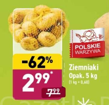 Ziemniaki 5kg (0,60 zł/kg) @Aldi
