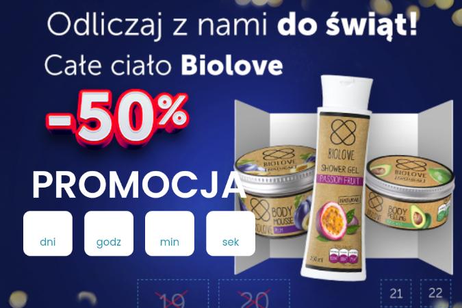 -50% na markę Biolove w Kontigo