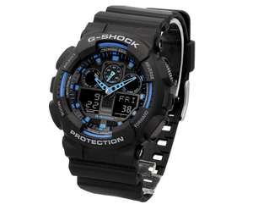 Zegarek męski Casio G-Shock GA-100-1A2ER czarny- Sklep Allegro