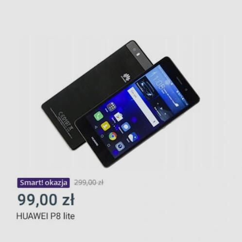 Smartfon HUAWEI P8 LITE CZARNY- Allegro okazje