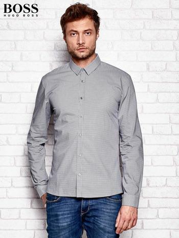 HUGO BOSS Szara koszula męska w kratkę
