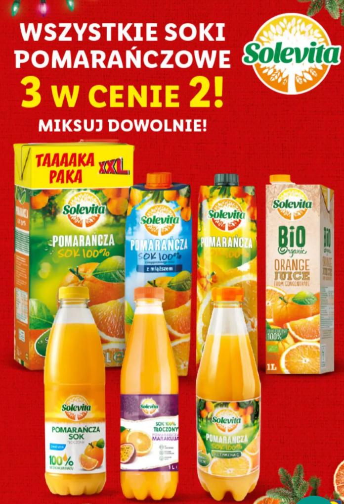 Soki pomarańczowe 3 w cenie 2 Lidl