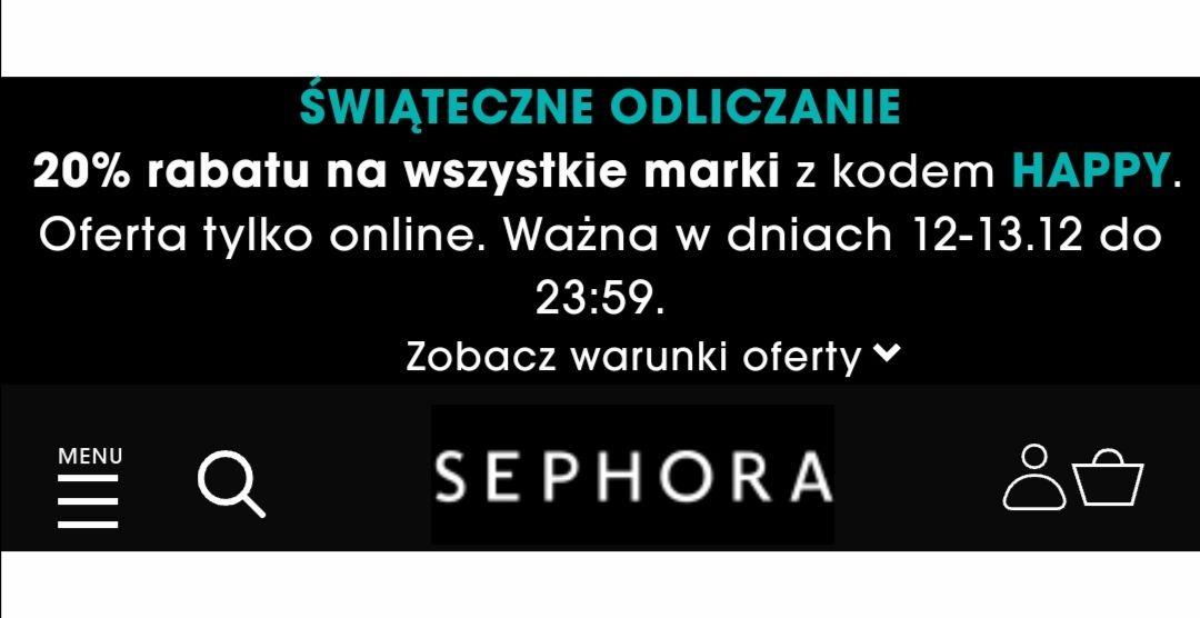 Sephora wszytsko - 20% również na przeceny