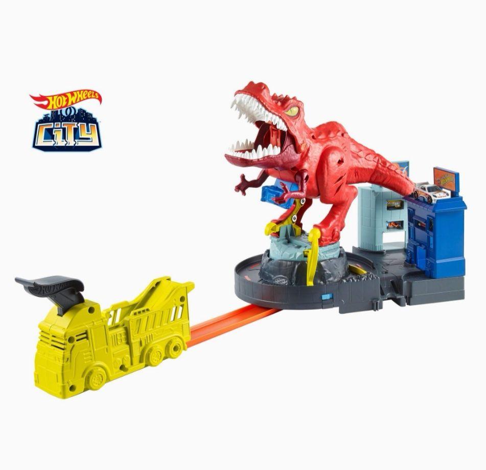Hot Wheels HW City T-Rex atak dinozaura. Amazon.de