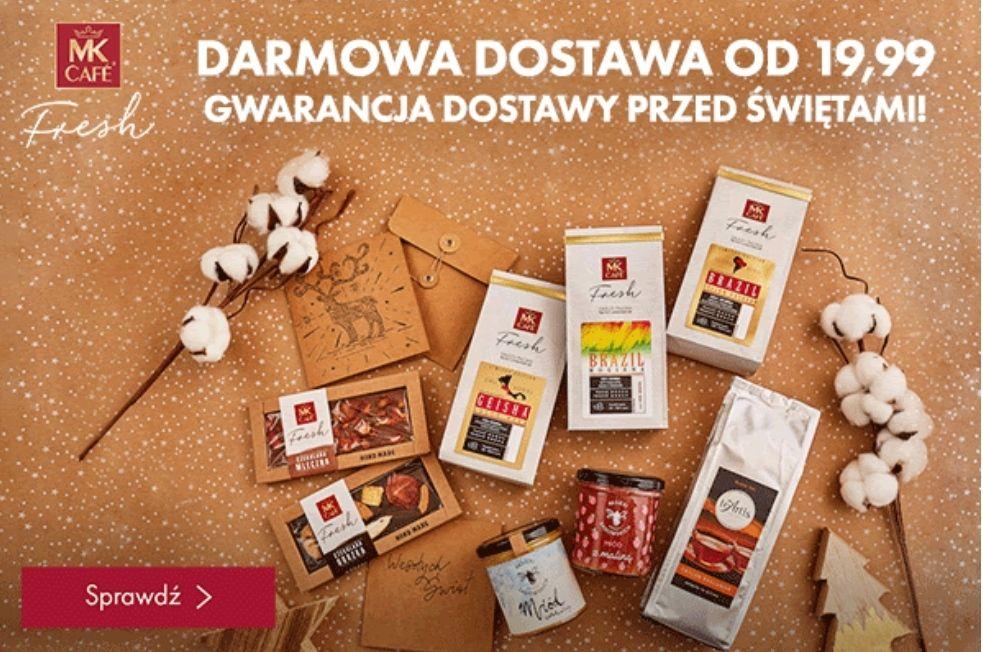 Darmowa dostawa w Mk Cafe Fresh + 12 zł ew. cashback