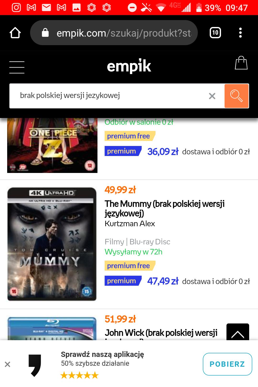 Mumia Blu Ray 4K za 49,99