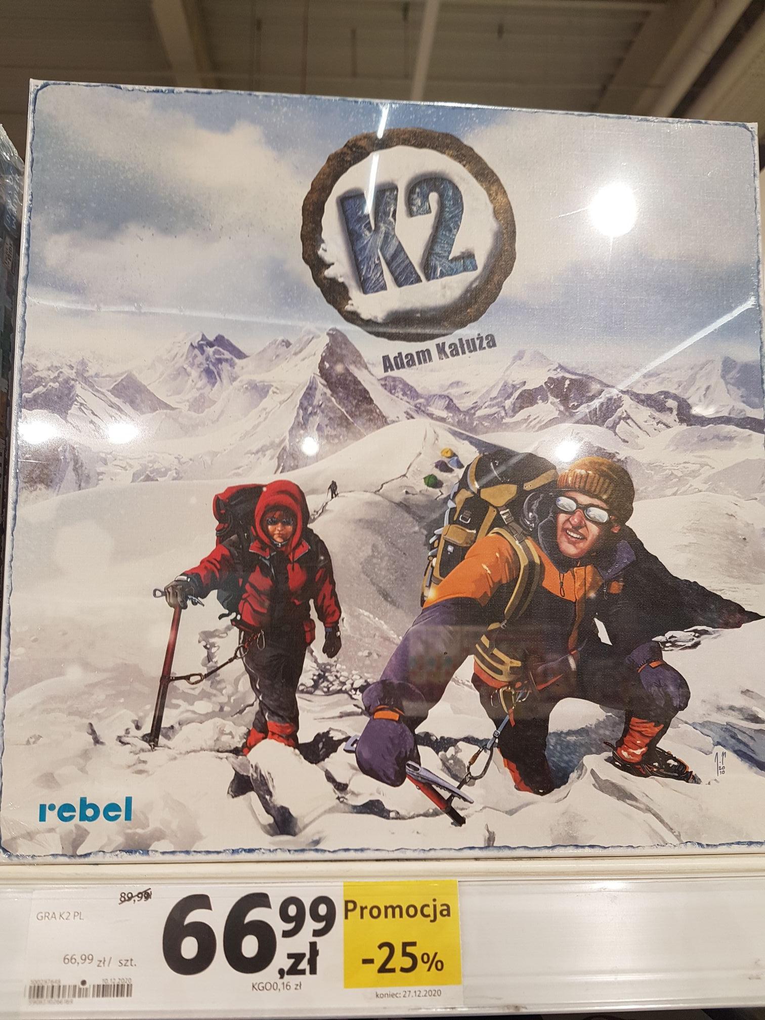 Gra planszowa K2 dodatkowo -10% z Kartą ClubCard Tesco Gliwice Łabędy