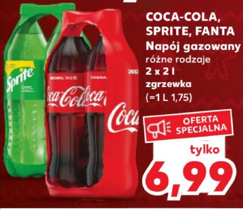 Cola, fanta, sprite 2x2l za 6.99 w Kauflandzie