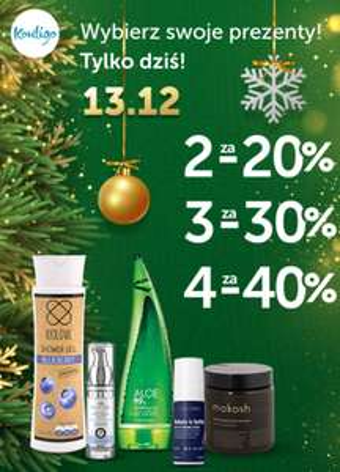 Kontigo: 2 produkty (-20%), 3 produkty (-30%), 4 produkty (-40%)