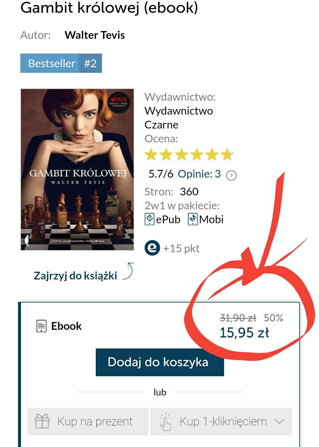 Gambit królowej (ebook) - 50%
